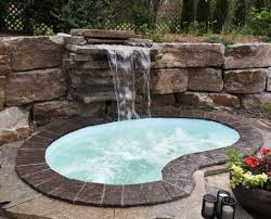 inground pools with waterfalls and hot tubs. Custom Spa Inground Pools With Waterfalls And Hot Tubs B