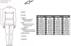 Omp Kart Suit Size Chart Kart Suits