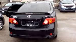 2010 Toyota Corolla Sport / Black/ Manual - YouTube