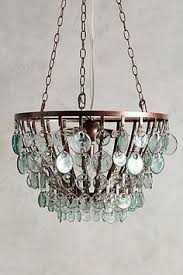 glass scale chandelier from anthropologie recycled glass chandelier9