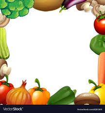 Vegetable Border Design Border Design With Mixed Vegetables
