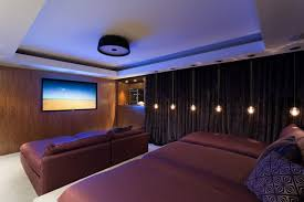 room mood lighting. Home Theater - Mid-sized Contemporary Enclosed Idea In Miami With A Wall Room Mood Lighting
