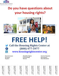 Housing Rights Ctr Services Flyer With Tear Offs Ventura