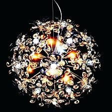 round crystal chandelier ball chandeliers simple modern lamp chrome steel wrought iron contemporary living room uk