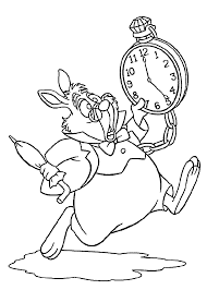 Alice In Wonderland Coloring Pages Rabbit
