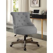 white wooden office chair. Linon Home Decor Sinclair Light Gray And White Dots Upholstered Fabric With Wood Base Office Wooden Chair