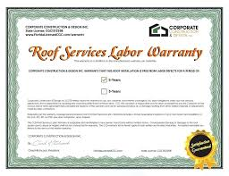 Roof Warranty The Two Types Of Roofing Warranties Sample