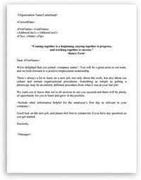 Welcome Letter Template Welcome Letter Format For New Employee Welcome Letters