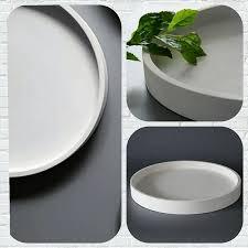 silicone concrete mold plate 28x3cm