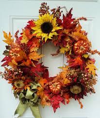 Inspiring Accessories For Door Decoration Using Outdoor Wreath Front Doors  Charming Image Of Autumn