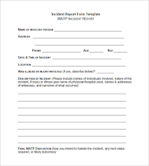 Accident Report Template Word Incident Report Template Word Excel Pdf Templates within Accident 2