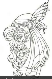 Candy Skull Gypsy Tattoo Picture At