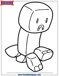 Cute Minecraft Creeper Coloring Pages Get Coloring Pages