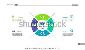 Four Options Strategy Process Chart Template Stock Vector
