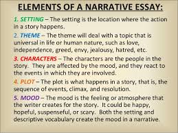fictional narrative 2 elements of a narrative essay 1