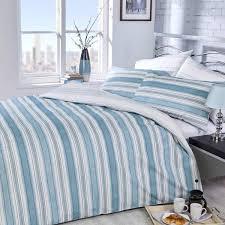 20 off vantona easy living boheme stripe duvet cover set green