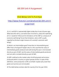 What Is Not Included In Gdp Ab 204 Unit 4 Assignment Ab 204 Unit 4 Assignment