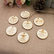 personalized custom engraved wedding name and date round circle hang s rustic wooden wedding gift s jute string