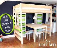 popular of full loft bed with desk plans diy loft bed with desk and storage
