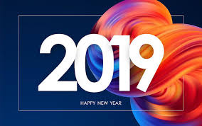 Vector Illustration: Happy New Year 2019. Greeting Card With ...