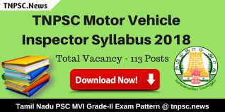 tnpsc motor vehicle inspector syllabus