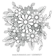 Coloring Page Flowers Johnrozumartcom