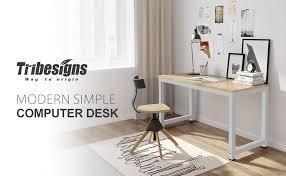 sturdy office desk. Tribesigns 47\ Sturdy Office Desk