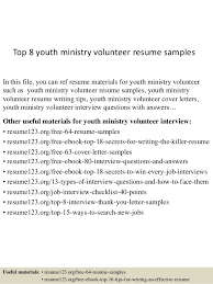 Ministry Resume   haadyaooverbayresort com fax cover sheets free printable youth ministry resumes templates ecordura com