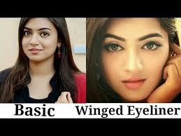nazriya m inspired eyeliner basic winged eyeliner tutorial 2018