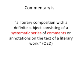 ib english written commentary commentary