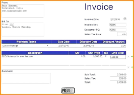 Create An Invoice Template In Word 13 How To Make An Invoice Template In Word Sopexample
