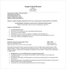 How To Write A Resume For A Federal Job Resume For Federal Jobs