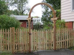 picket fence gate with arbor. Photo #117, Nobadeer Arbor With Spaced Stockade Picket Fence Gate