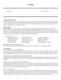 resume employment objectives examples resume templates for management positions