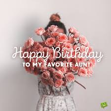 happy birthday aunt the best wishes