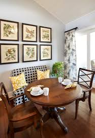 small round table and chairs set breakfast nook plus 2 dinette chairs comfy sofa dark wood flooring