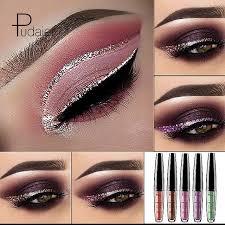 heavy metal pearl eyeshadow pudaier metal eyeshadow sparkle eye shadow flash silver gold y fashion eye shadow eye make up