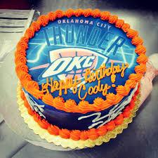 Okc Thunder Bedroom Decor Okc Thunder Birthday Cake Cakes Pinterest Birthday Cakes
