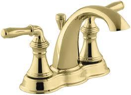 kohler k 393 n4 pb vibrant polished brass devonshire centerset bathroom faucet free metal pop up drain assembly with purchase faucet com