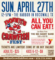 crawfish fest dodie s cajun diner at the harbor 2013 dodies annual crawfish fest brn print full page 10 375 x11 25