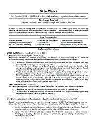 Cover Letter Business Analyst Resume Samples It Business Analyst