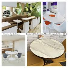 Kkr Restaurant Tables Top Stone Round Table Top Faux Stone Table