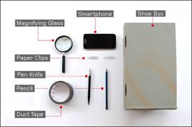 tip before you begin spray or black tape the inside walls of your shoebox to get the best image quality