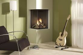 miniamlist dull white corner wood burning stove idea with evening hue wall paint with guitar and