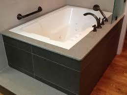 drop in soaking tub square