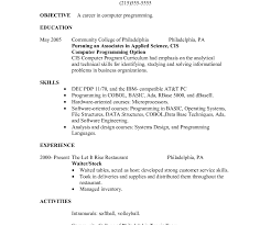 Waitress Resume Example Resume Server Resume Examples Skills