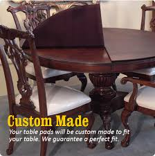 custom dining room table pads. Simple Custom Custom Table Pads Protect Your Dining Room  On Dining Room Pads O