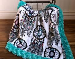 Dream Catcher Blankets Minky Baby Blanket Dreamcatcher Designer MInky Grey by 43