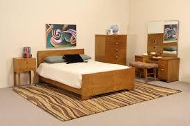 Maple Bedroom Furniture Sold Midcentury Modern 5 Pc Curly Birdseye Maple Bedroom Set