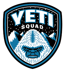 Yeti Squad embroidered patch illustration & design. | Bigfoot ...